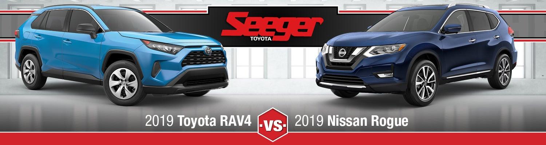 Rav4 Vs Rogue >> 2019 Toyota Rav4 Vs Nissan Rogue Suv Comparison Seeger Toyota