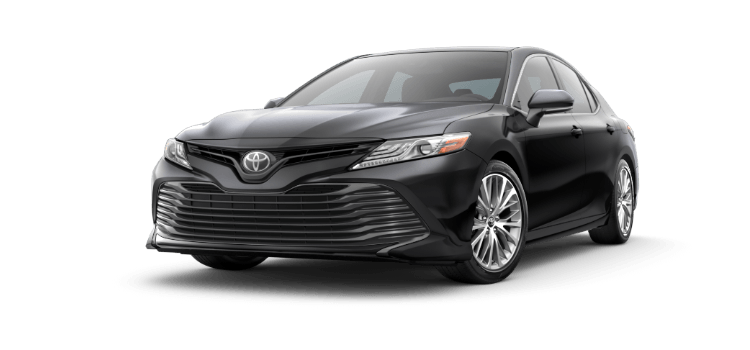 A Black 2019 Toyota Camry Xle