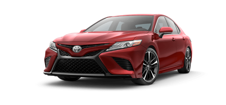 A Red 2019 Toyota Camry Xse